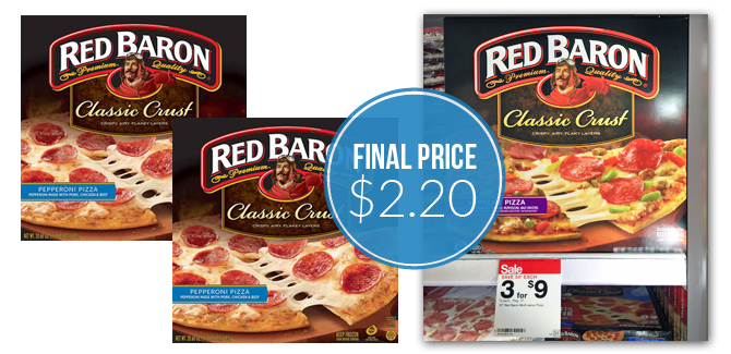 Red Baron Pizza Only 2 20 At Target The Krazy Coupon Lady Red Baron Pizza Pizza Sale Red Baron