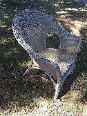 Vintage Retro Cane Chair Wicker