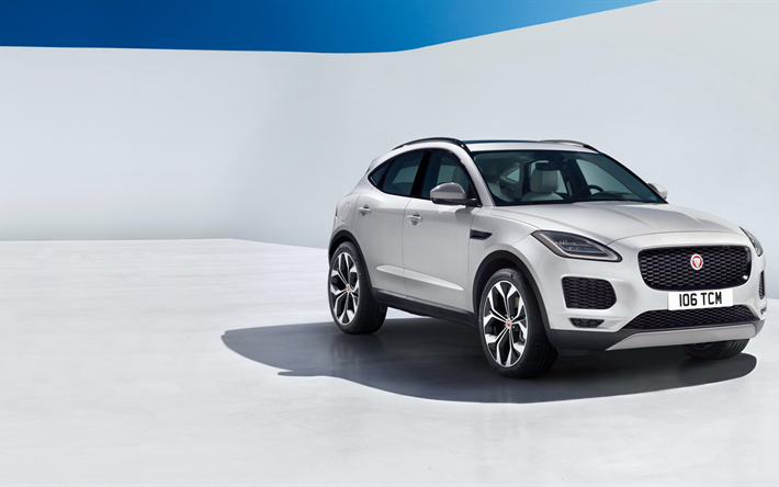 Télécharger fonds d'écran 4k, Jaguar E-Apce, véhicules multisegments, 2018 voitures, Jaguar besthqwallpapers.com