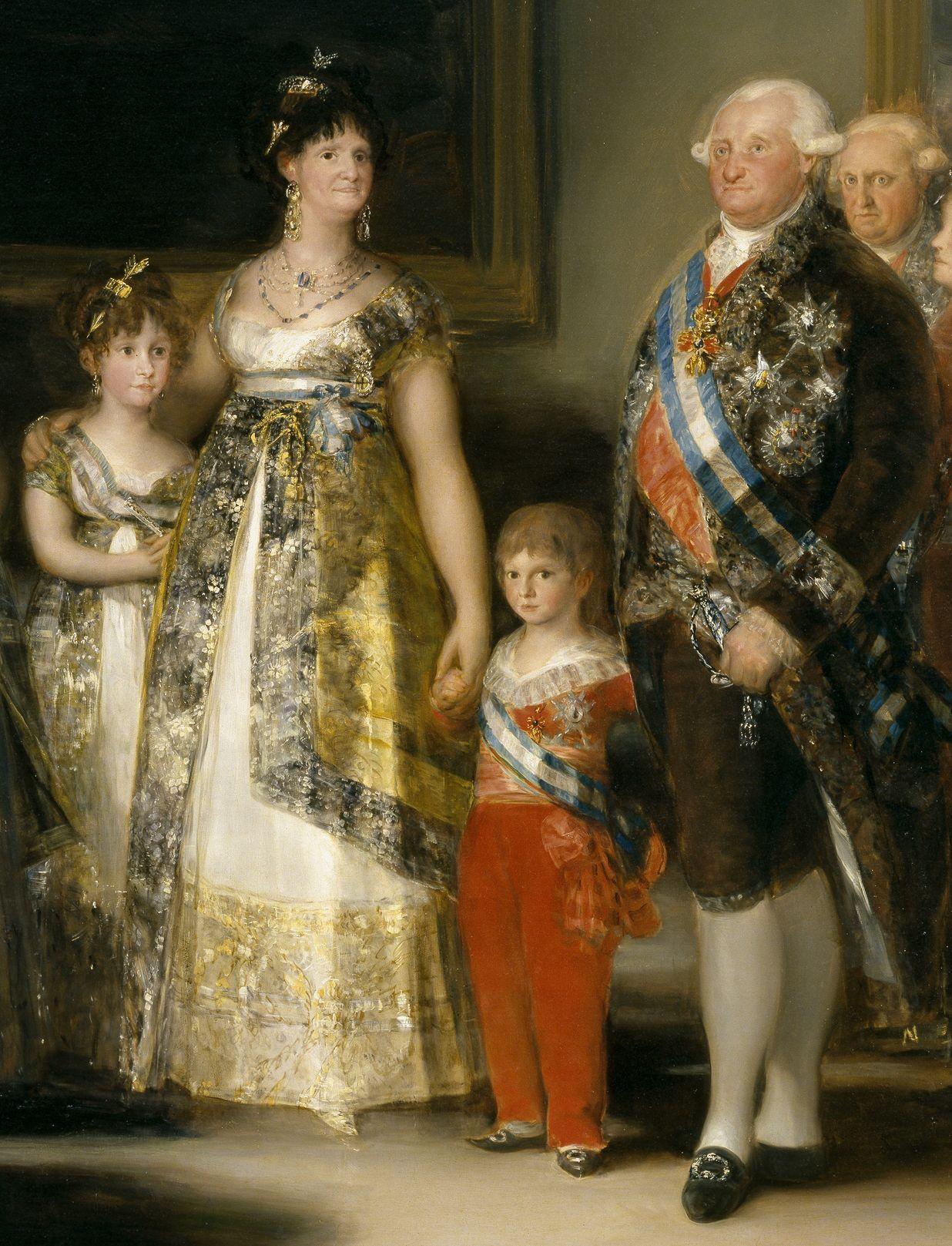 Francisco De Goya La Familia Carlos Iv Detail