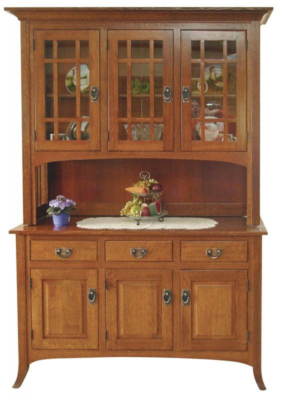 3 Door China Hutch