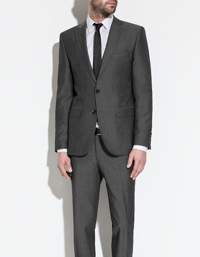6811add0f4cf charcoal grey suit from zara $278 ... every guy needs a great looking suit  so please don't rent a suit that might not fit right when you can buy a  great ...
