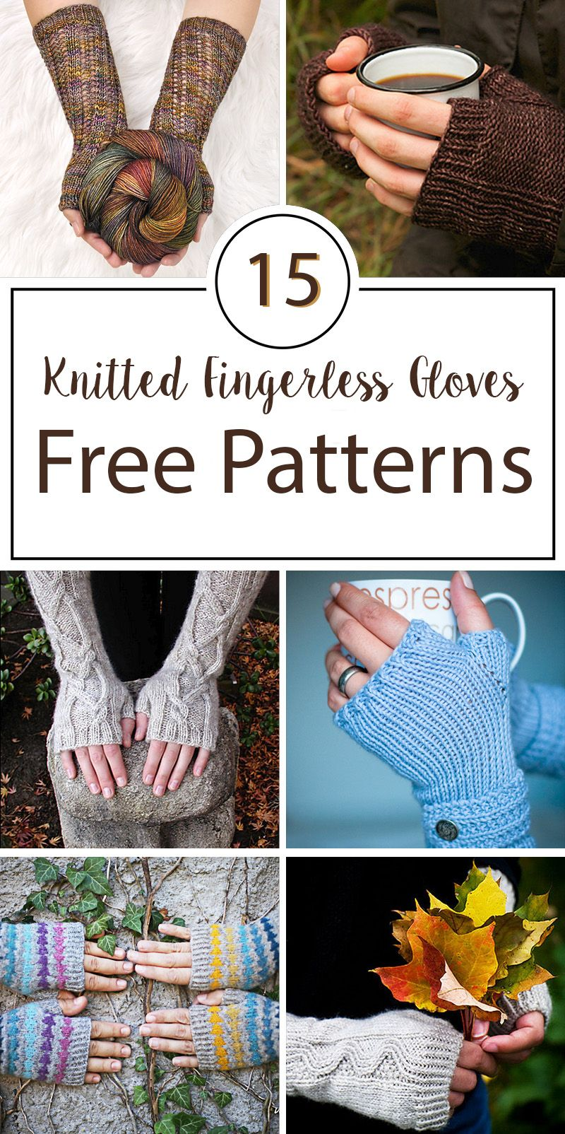 Knitted Fingerless Gloves Free Patterns | crafts | Pinterest