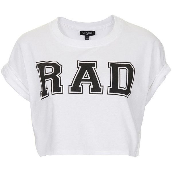 1677cf6a59f006 TOPSHOP Rad Crop Tee ( 7.61) ❤ liked on Polyvore featuring tops