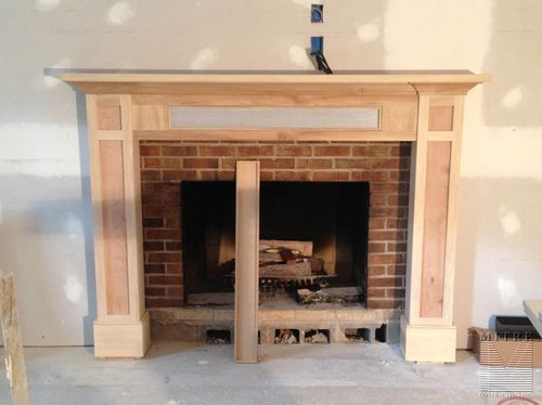 Craftsman Style Mantel with storage - solid and screen removable ...
