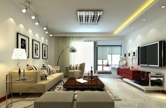 Modern Living Room Lighting Ideas With Decorative