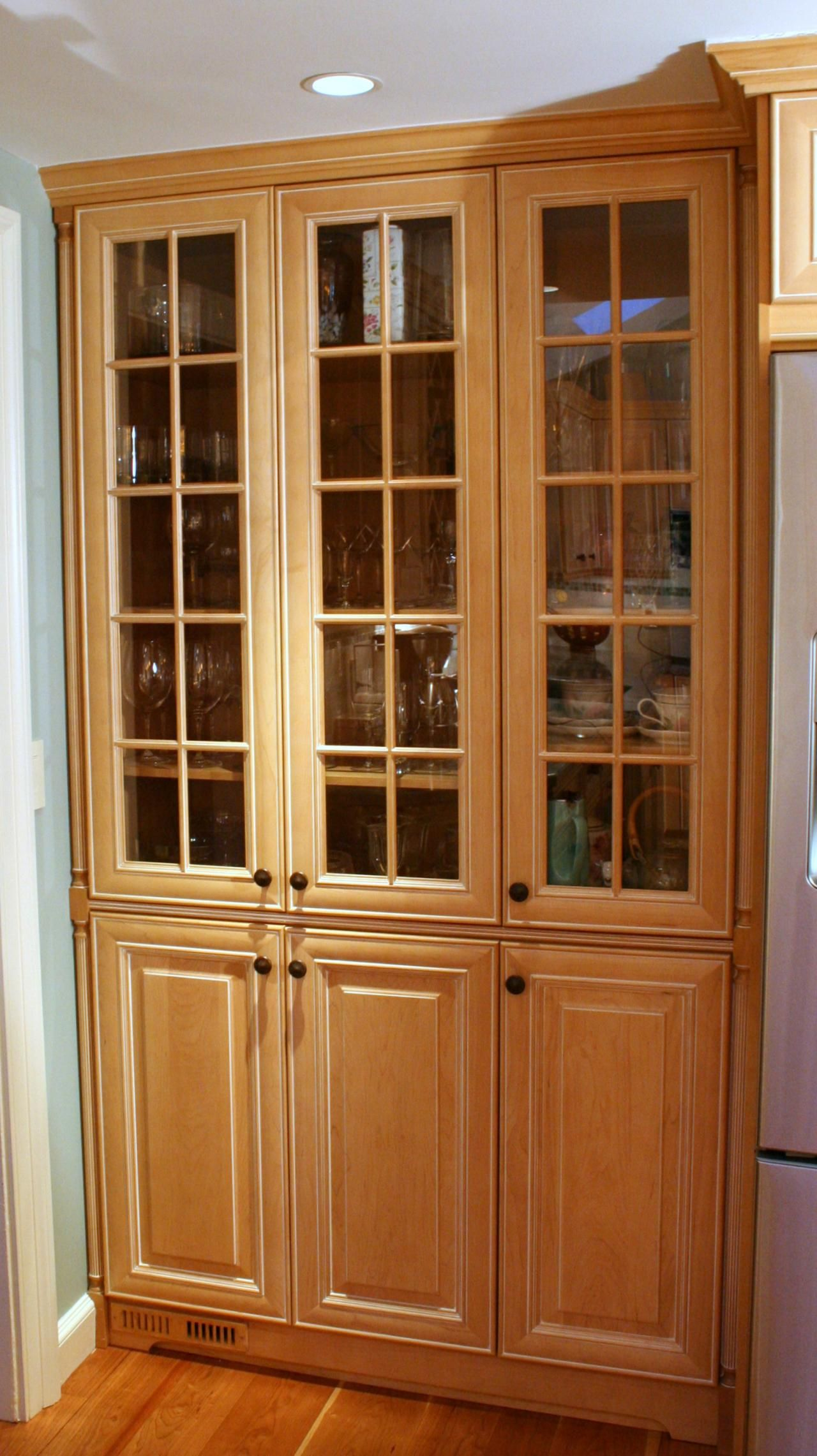 Best China Closet Built Into Kitchen Area Nice But Like If It 640 x 480