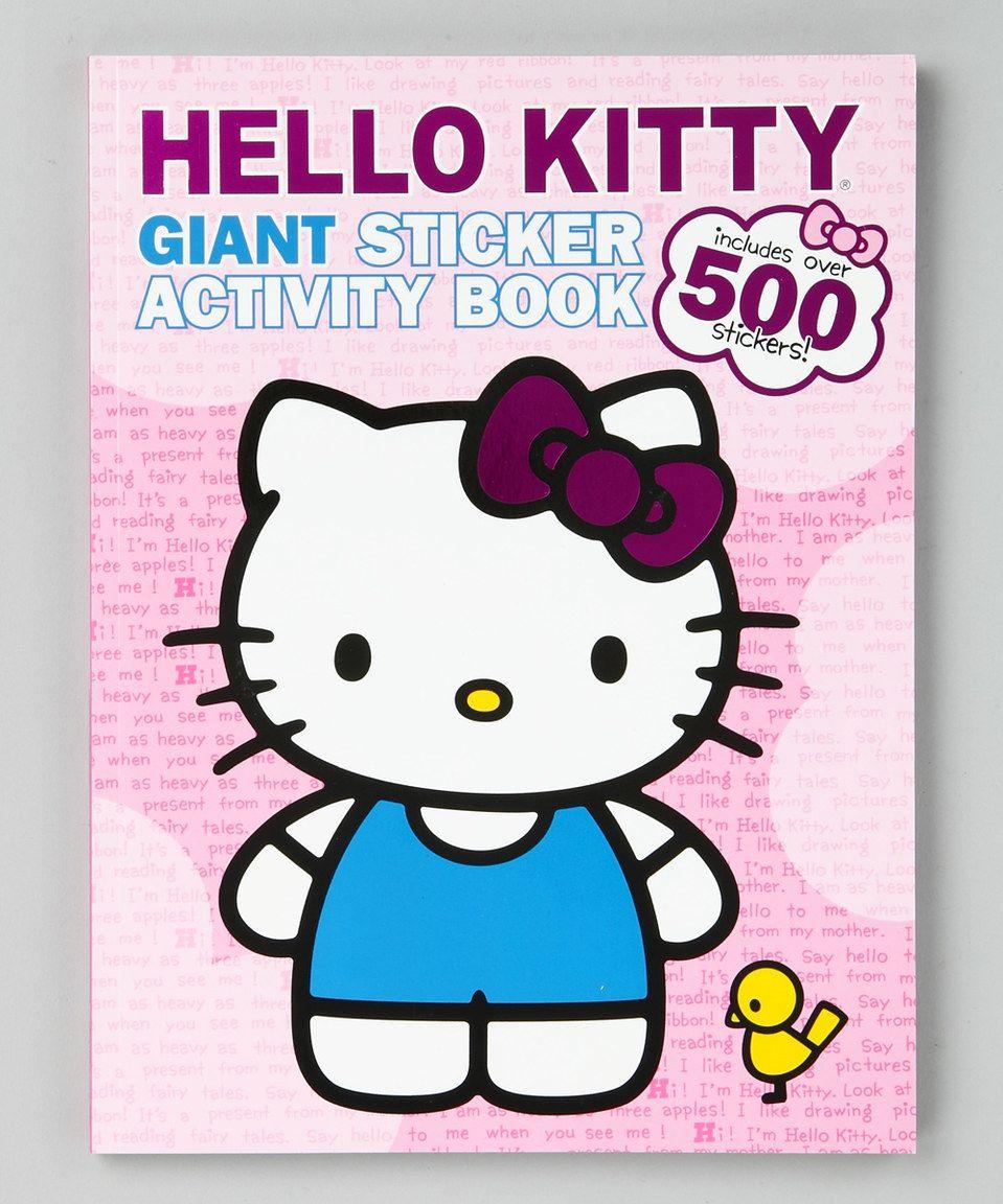 Hello Kitty Giant Sticker Activity Paperback Hello Kitty Coloring Hello Kitty Toys Hello Kitty