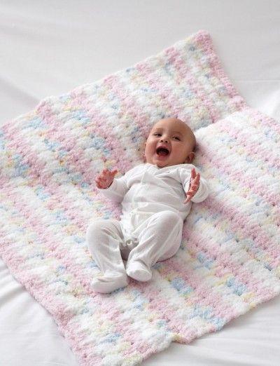 Baby Blanket FREE PATTERN | Bernat Pipsqueak | Crocheting Ideas ...