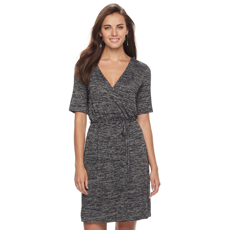 fd4fb4ed Women's Apt. 9? Faux-Wrap Dress | Women's Fashion Fall | Faux wrap ...