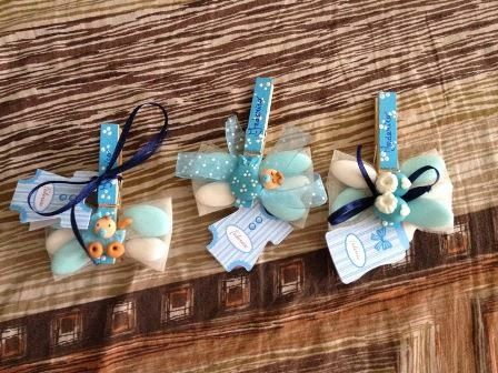 Segnatavolo battesimo ~ Deco & gifts .creazioni in pasta di mais : mollette