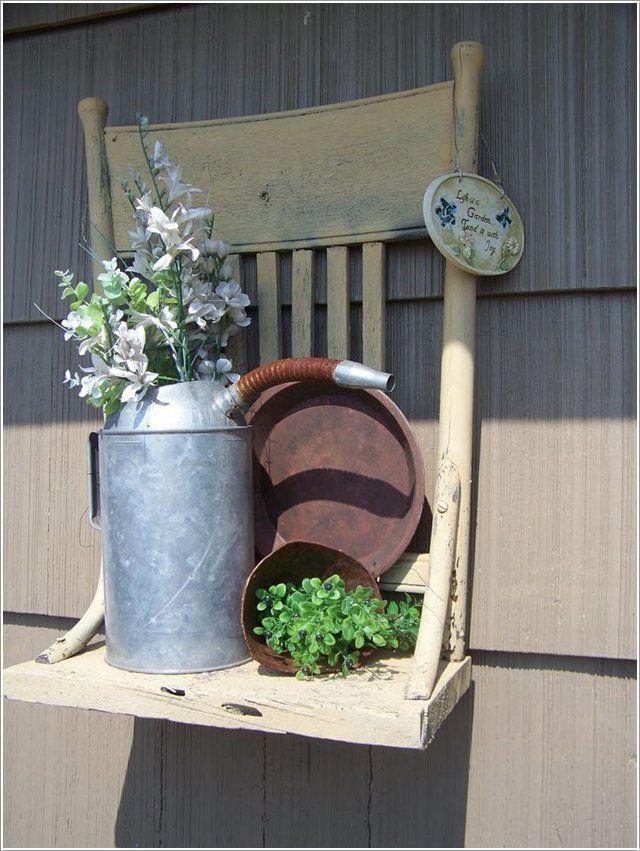 Reciclar sillas viejas 14 patio y jardin pinterest for Sillas para viejitos