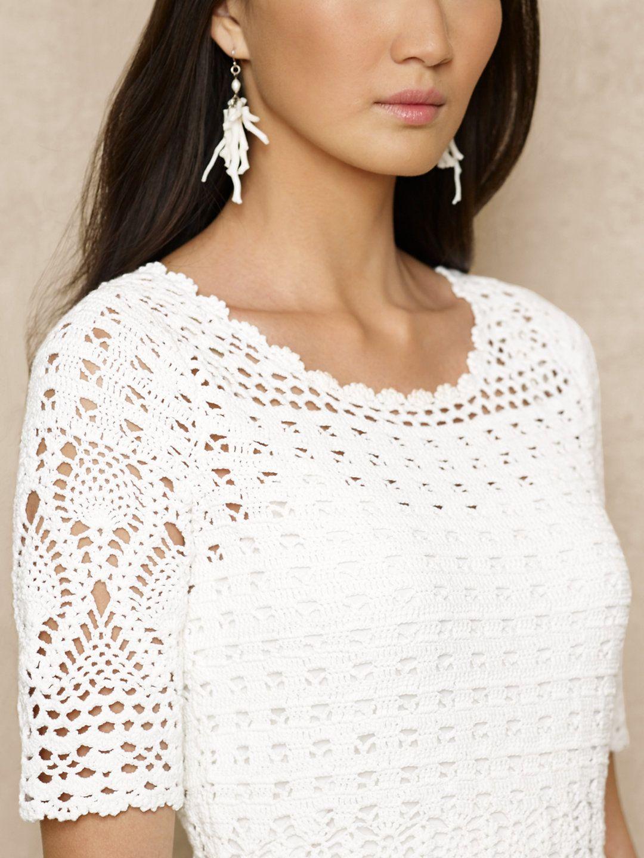 Hand Crocheted Dress Short Dresses Dresses Ralphlaurencom