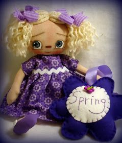 All is Bright: An Etsy Doll and a Give Away!