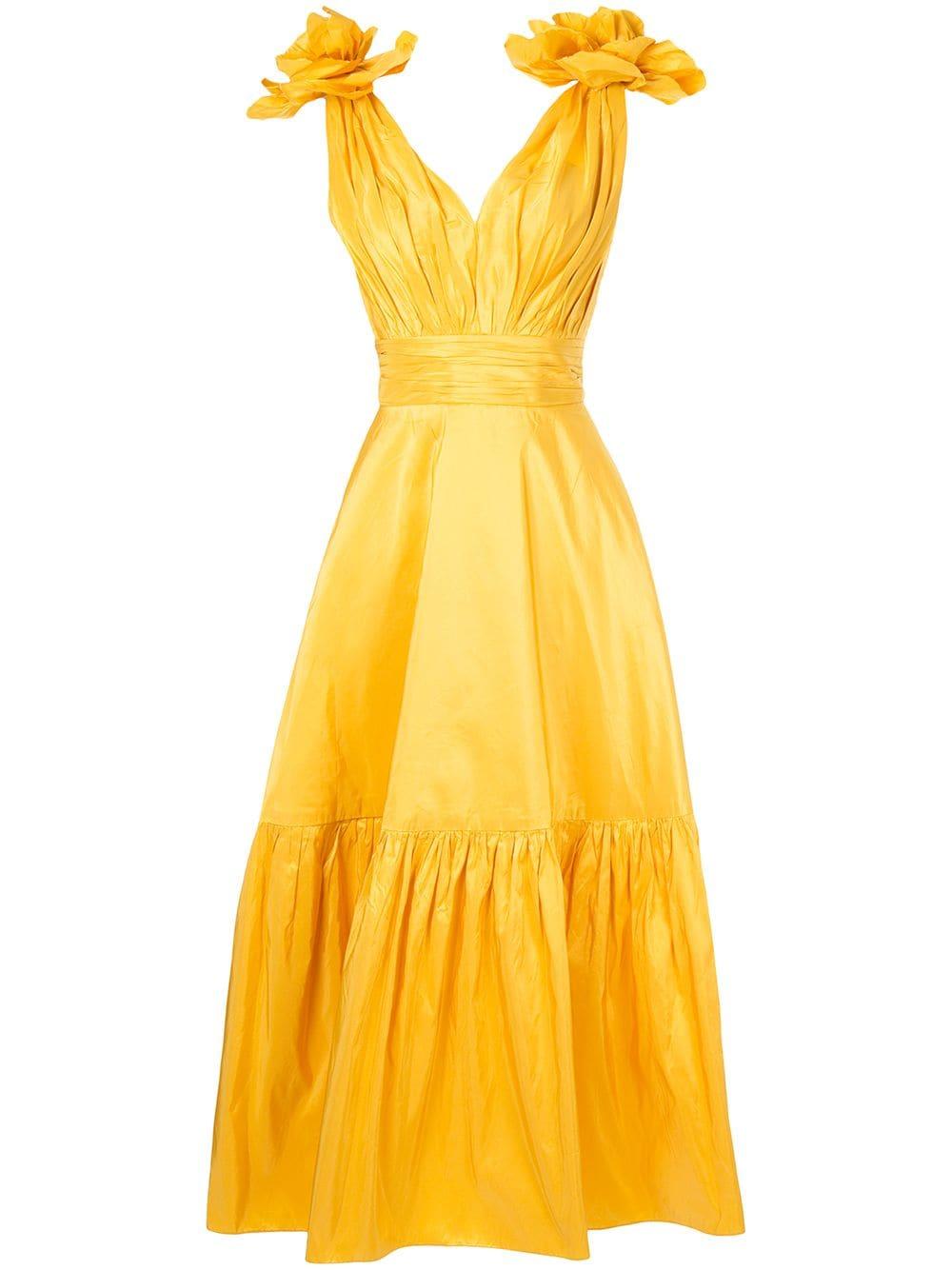Bambah Sunflower Maxi Dress Farfetch Dresses Yellow Dress Yellow Dress Outfit [ 1334 x 1000 Pixel ]