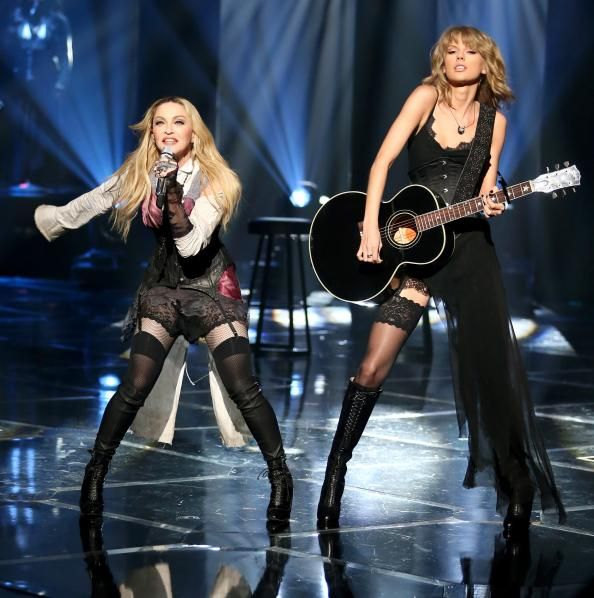 Madonna and Taylor Swift Duet at the iHeartRadio Awards  #InStyle