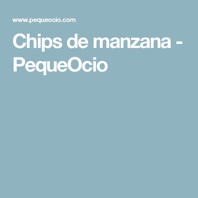 Chips de manzana - PequeOcio