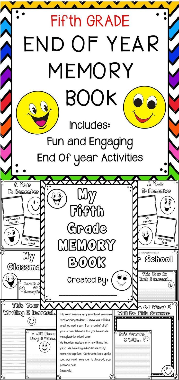 End Of Year Emoji Memory Book Fifth Grade