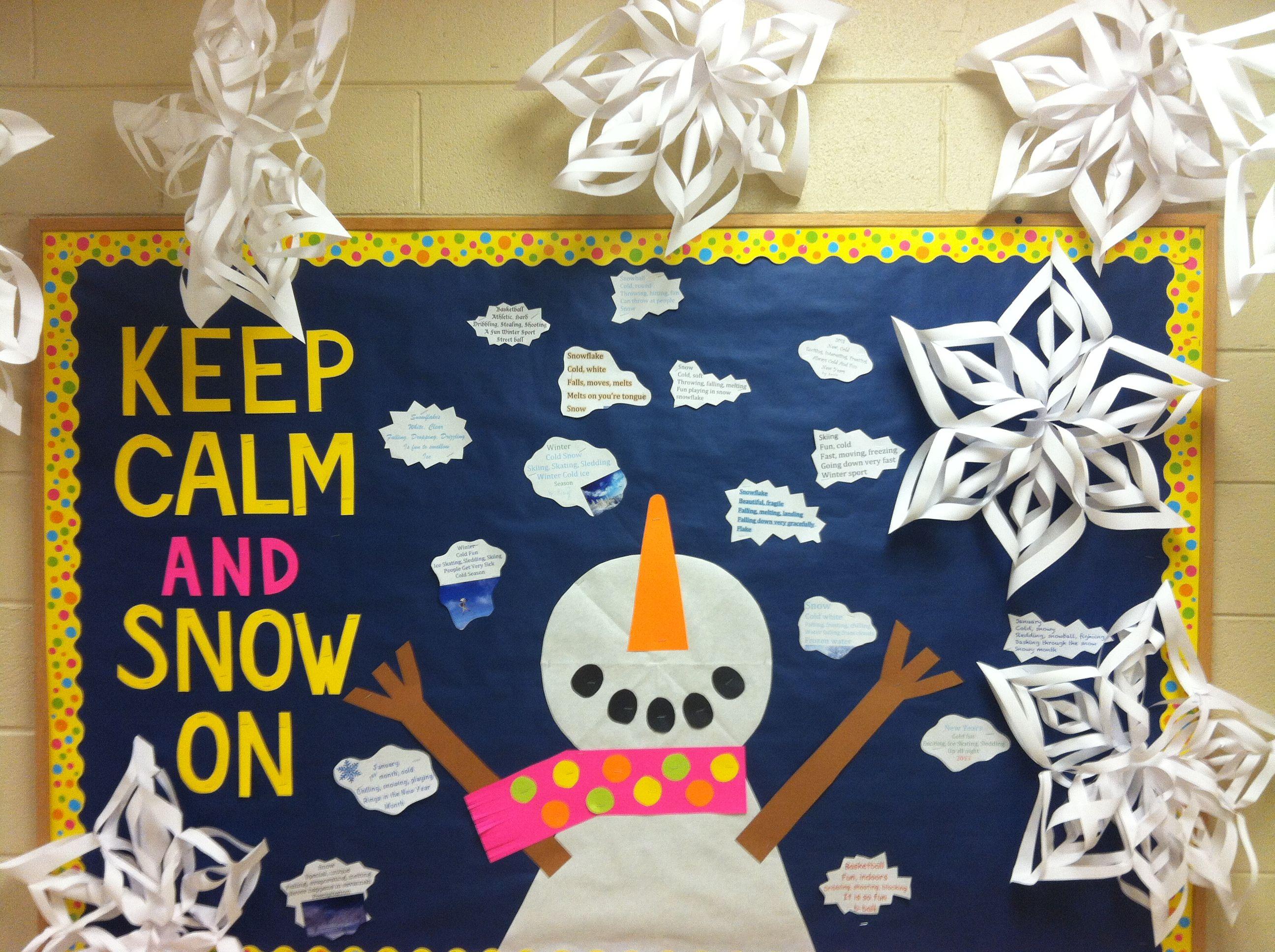 January Bulletin Board Birthday Boards Cute