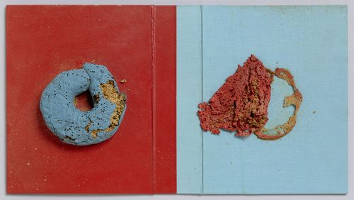 """Gesammelte Werke, Band 6, Bok 3C, Vorzugsausgabe  Dieter Roth (Swiss, born Germany. 1930–1998)    1971. Artist's book cover, 9 x 15 3/4 x 1"""""""