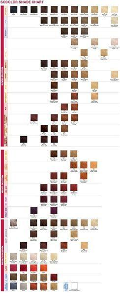 Image result for matrix socolor color chart pdf hair colors
