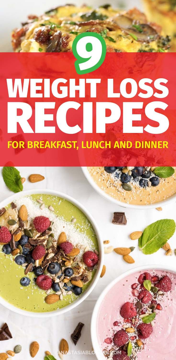 9 Weight Loss Recipes for Breakfast Lunch and Dinner - Easy Clean Eating on a Budget images