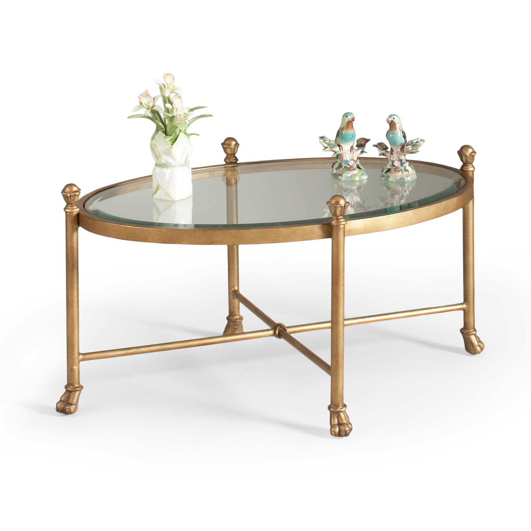 Gold Gordon Oval Cocktail Table With Clear Glass Top On Backorder Until Late August 2016 Coffee Table Oval Coffee Tables Antique Coffee Tables [ 1785 x 1785 Pixel ]