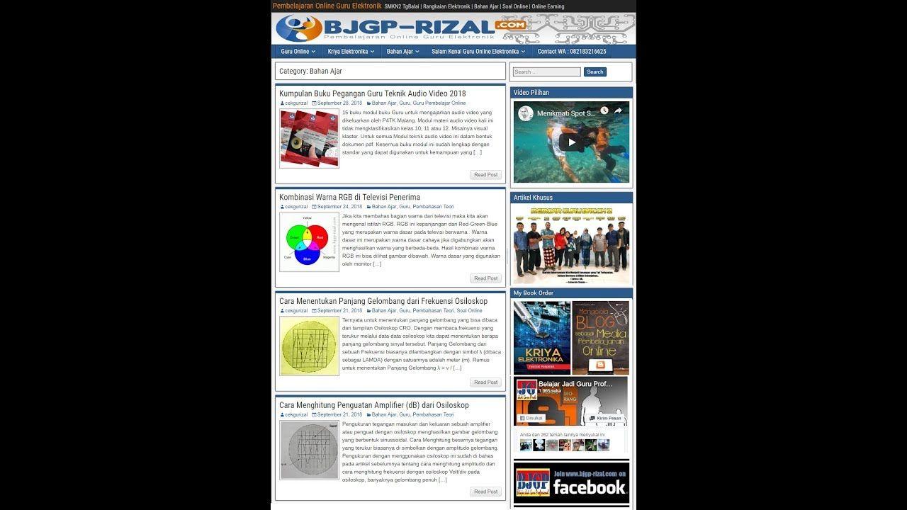 Portal Guru Ngeblog Agar Bisa Dijadikan Media Pembelajaran Online Belajar Buku Guru