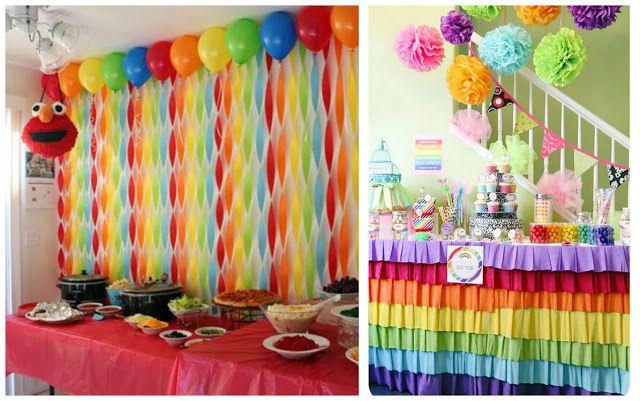 12 ideas fabulosas que te ayudaran a decorar tu fiesta con - Hacer cortinas infantiles ...