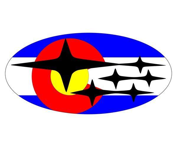 Colorado Flag Subaru Emblem | Subaru logo, Colorado flag ...