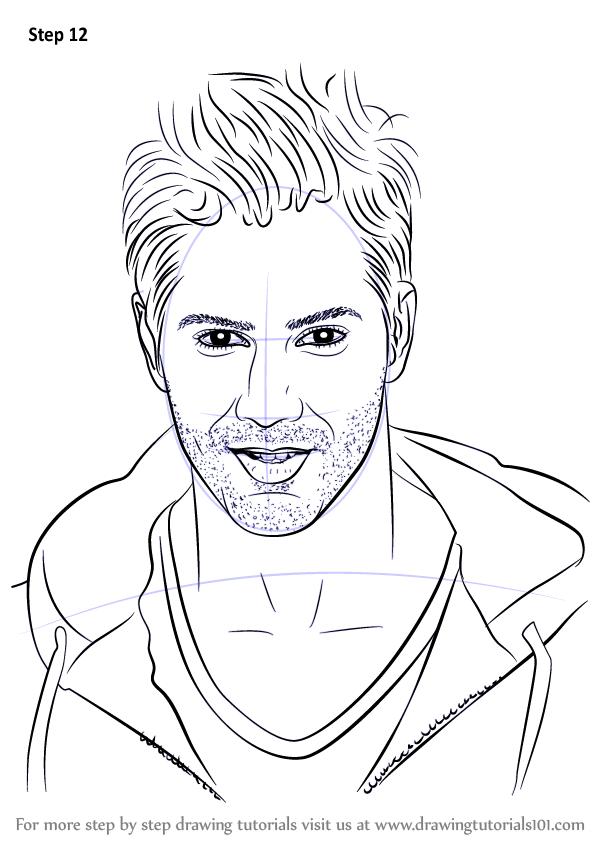 Learn How To Draw Varun Dhawan Celebrities Step By Step Drawing Tutorials Drawing Tutorial Face Drawing Tutorial Easy Portrait Drawing