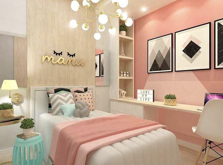 Pingl par salma bramli sur projets essayer przytulna - Decoracion de paredes de dormitorios juveniles ...
