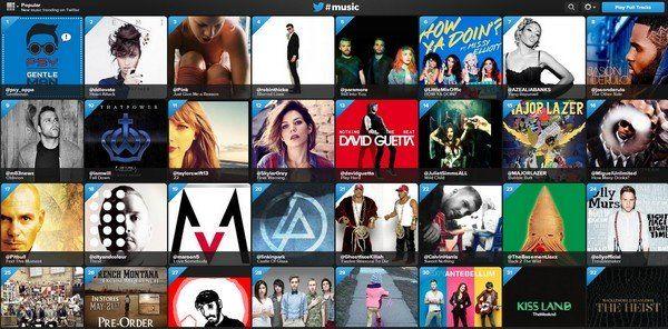 Twitter lance #Music