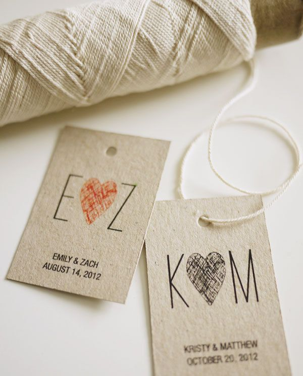Initials Monogram Personalized Wedding Favor Tags Via Etsy