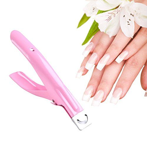 Tengchang Pink Manicure False Edge Clipper Acrylic Nail Art Uv Gel Cutter Tool This
