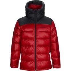Peak Performance M Frost Glacier chaqueta con capucha de plumón | S, m, l, xl, xxl | Rot | Herren Peak Performance