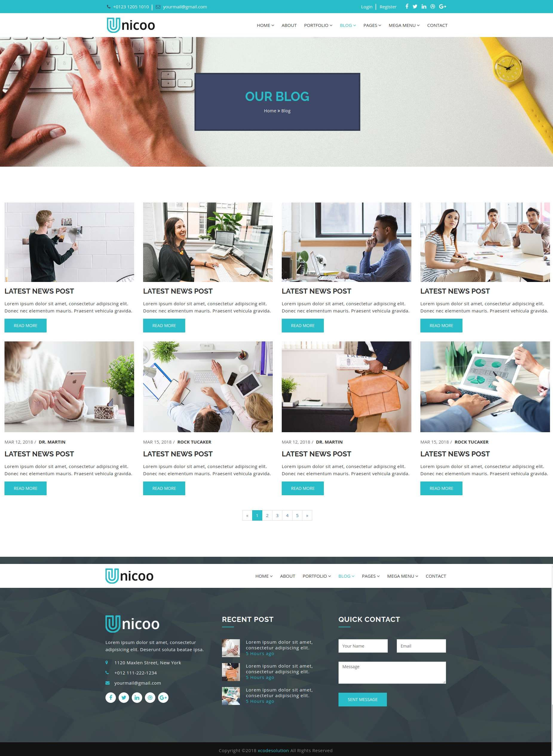 Unicoo Business And Corporate Html5 Template Pinterest Pricing