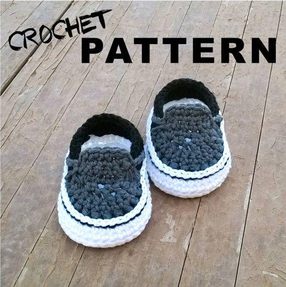 Crochet PATTERN. Vans style baby sneakers. Instant Download ...