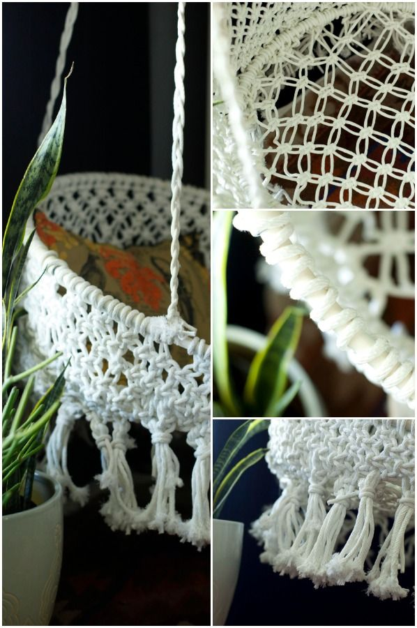 Diy Hanging Macrame Chair With Images Macrame Chairs Macrame