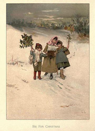 1886 christmas roses vintage christmas navidad vintage nol christmas roses 1886 children in snow canvas art lizzie mack x m4hsunfo
