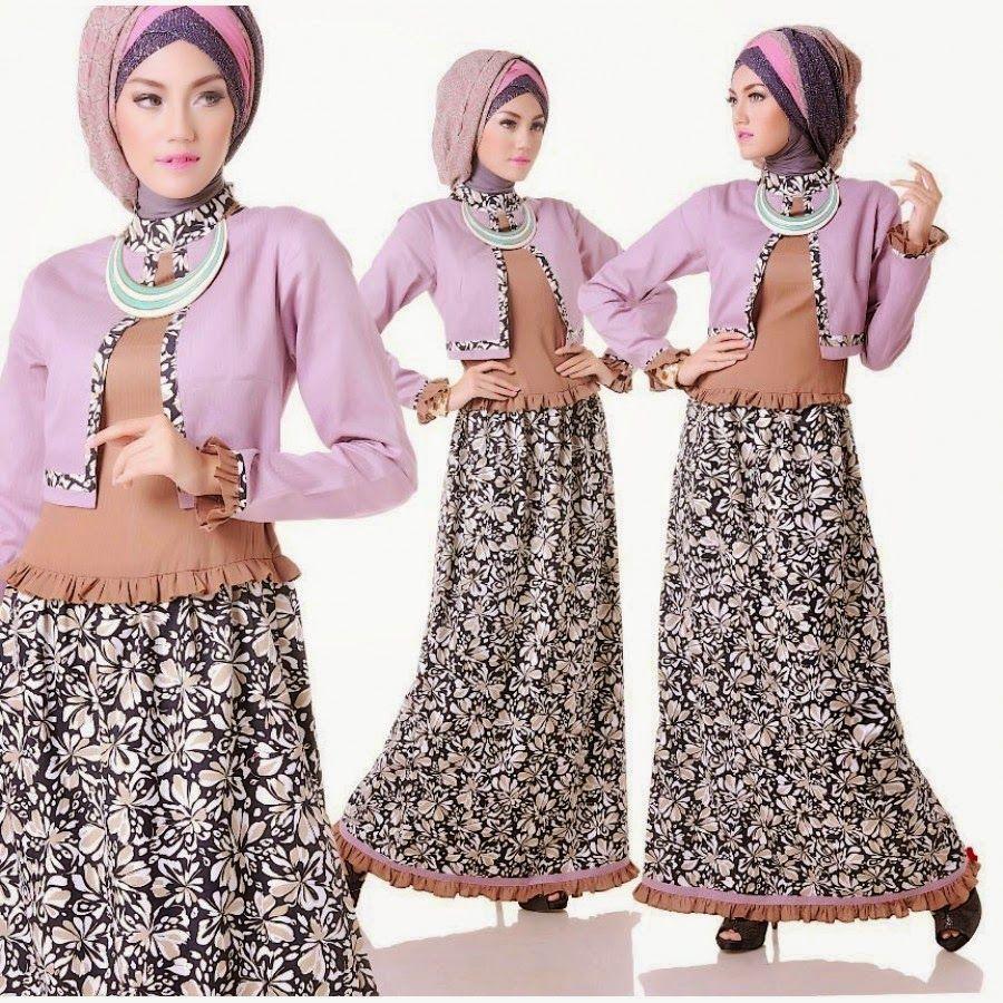 Contoh kebaya muslim modern untuk wisuda  Model Baju Muslim