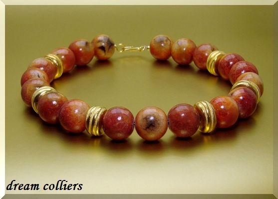 Apfelkorallen - Unikatschmuck von Dream-Colliers auf DaWanda.com