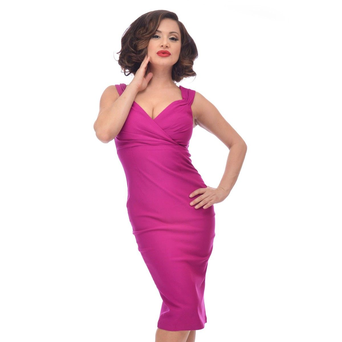 Steady Clothing Diva Wiggle Dress - Magenta | Women\'s Dresses ...