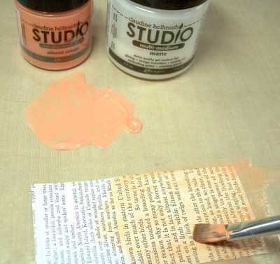 TUTORIAL - ingenious idea for making your own coloured glazes by Claudine Hellmuth (uses acrylic paint & matte medium)