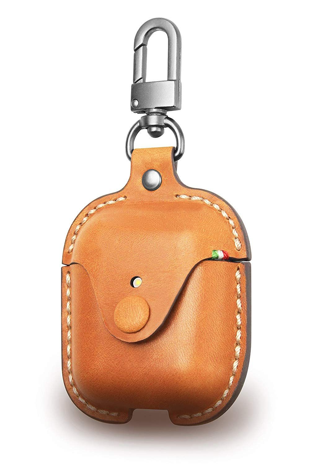 Amazon Com Cozistyle Genuine Premium Leather Case For Apple Airpods Anti Lost Snap Full And Ultimate Leather Handbag Patterns Leather Keyring Leather Keychain