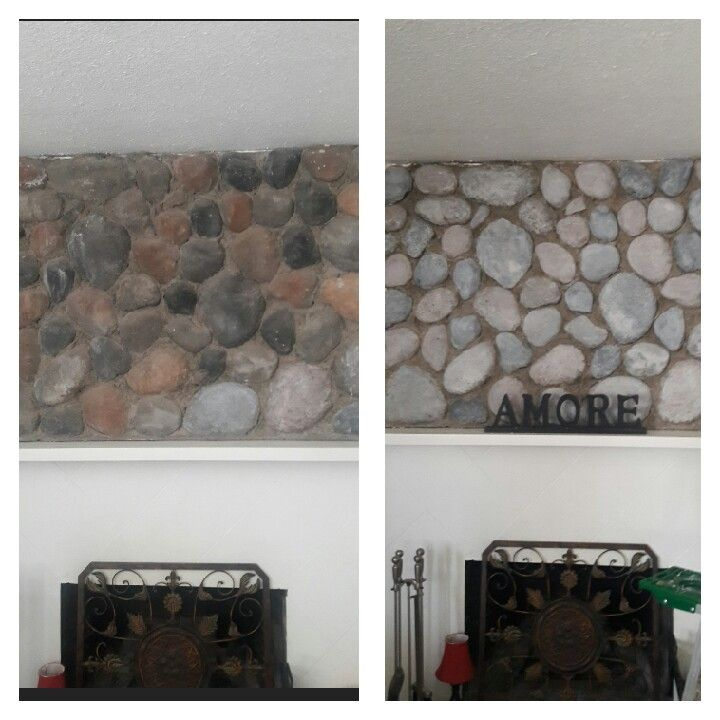 White Washed River Rock Fireplace River Rock Fireplaces Rock Fireplaces Wood Burning Stove
