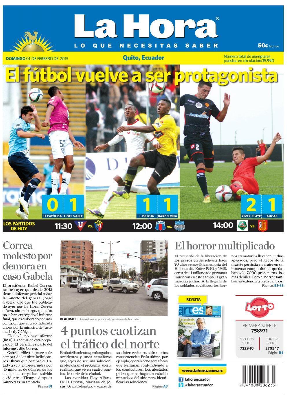 Los temas destacados son: El fútbol vuelve a ser protagonista, Correa molesto por demora en caso Gabela, 4 puntos caotizan el tráfico del norte, El horror multiplicado.