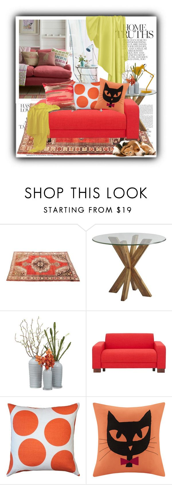 """""""A Summer Room"""" by terrelynthomas ❤ liked on Polyvore featuring interior, interiors, interior design, home, home decor, interior decorating, Pier 1 Imports, Pillow Decor, Madison Park and Loloi Rugs"""