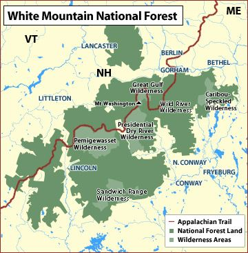 Appalachian Trail | White mountain national forest, Forest ...
