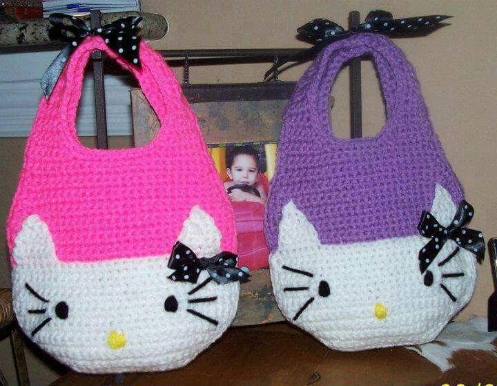 Bolso Kitty Purses Pinterest Crocheted Bags Crochet And Kitten
